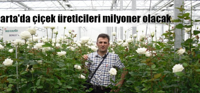 Isparta'da çiçek üreticileri milyoner olacak !